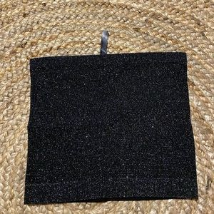 Urban Outfitters Tube Top Black and Sparkly